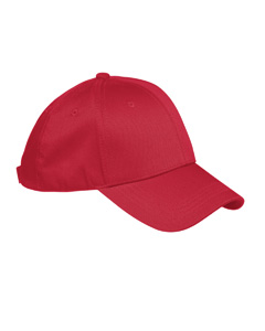 Red 6-Panel Structured Twill Cap