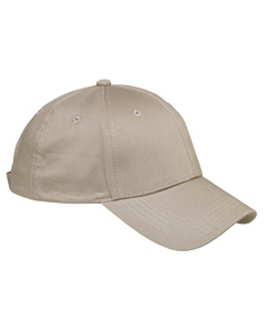 Khaki 6-Panel Structured Twill Cap