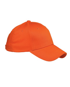 Orange 6-Panel Structured Twill Cap