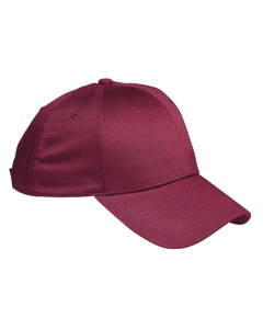 Maroon 6-Panel Structured Twill Cap