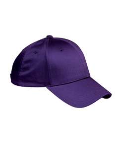 Purple 6-Panel Structured Twill Cap