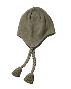 Olive Knit Earflap Beanie