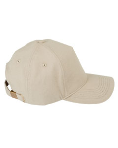 Khaki 5-Panel Brushed Twill Cap