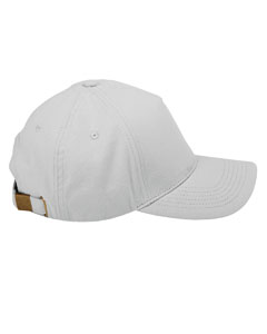 Light Grey 5-Panel Brushed Twill Cap