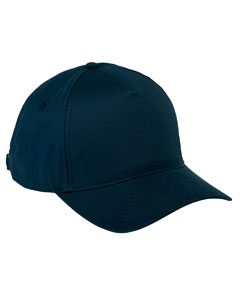 Navy 5-Panel Brushed Twill Cap