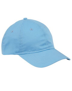 Lt College Blue 6-Panel Twill Unstructured Cap