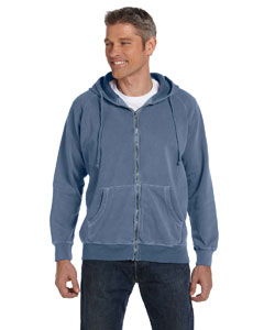 Blue Jean 10 oz. Garment-Dyed Full-Zip Hood