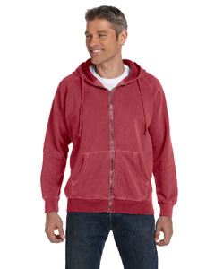 Crimson 10 oz. Garment-Dyed Full-Zip Hood