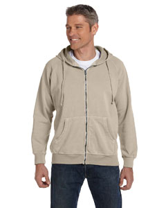 Sandstone 10 oz. Garment-Dyed Full-Zip Hood