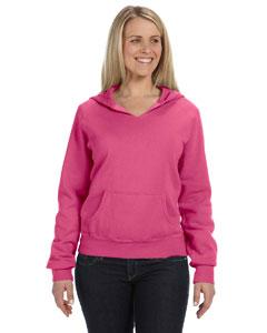Raspberry Women's 10 oz. Garment-Dyed Front-Slit Pullover Hood