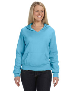 Lagoon Blue Women's 10 oz. Garment-Dyed Front-Slit Pullover Hood