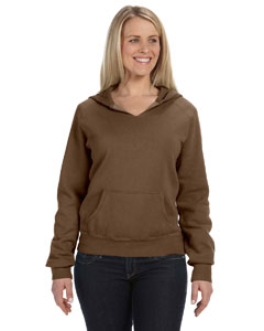 Brown Women's 10 oz. Garment-Dyed Front-Slit Pullover Hood