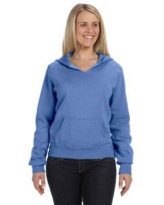 Flo Blue Women's 10 oz. Garment-Dyed Front-Slit Pullover Hood