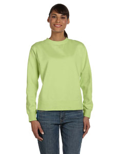 Celedon Women's 10 oz. Garment-Dyed Wide-Band Fleece Crew