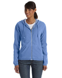 Flo Blue Women's 10 oz. Garment-Dyed Full-Zip Hood