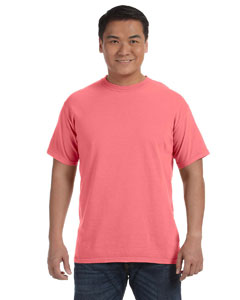Neon Red Orange 6.1 oz. Ringspun Garment-Dyed T-Shirt