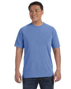 Flo Blue 6.1 oz. Ringspun Garment-Dyed T-Shirt