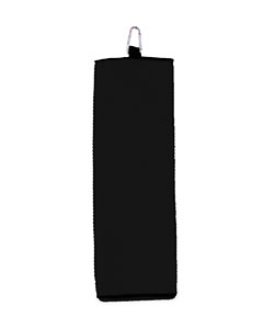 Black Fairway Golf Towel