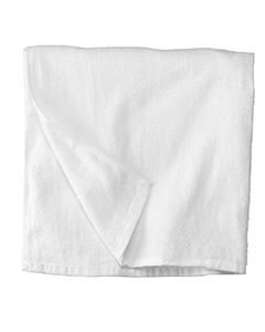 White All Terry Beach Towel