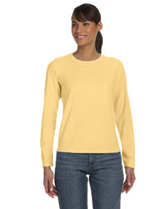 Butter Women's 5.4 oz. Ringspun Garment-Dyed Long-Sleeve T-Shirt