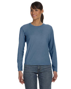 Blue Jean Women's 5.4 oz. Ringspun Garment-Dyed Long-Sleeve T-Shirt