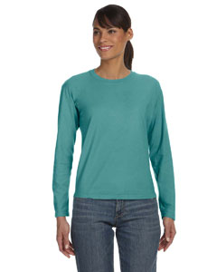 Seafoam Women's 5.4 oz. Ringspun Garment-Dyed Long-Sleeve T-Shirt