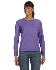 Violet Women's 5.4 oz. Ringspun Garment-Dyed Long-Sleeve T-Shirt