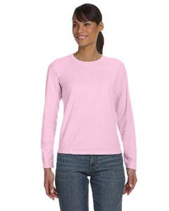 Blossom Women's 5.4 oz. Ringspun Garment-Dyed Long-Sleeve T-Shirt