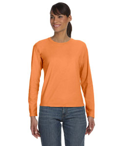 Mango Women's 5.4 oz. Ringspun Garment-Dyed Long-Sleeve T-Shirt
