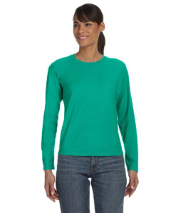 Chalky Mint Women's 5.4 oz. Ringspun Garment-Dyed Long-Sleeve T-Shirt