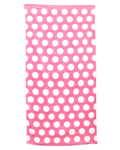 Lt Pnk Polka Dot Carmel Beach Towel