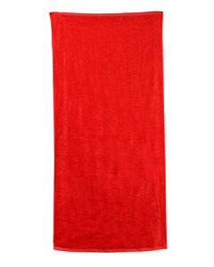 Red Carmel Beach Towel
