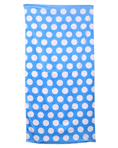Lt Blu Polka Dot Carmel Beach Towel