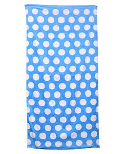 Lt Blu Polka Dot Carmel Beach Towel