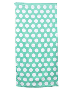 Lt Grn Polka Dot Carmel Beach Towel