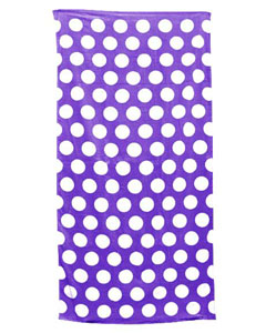 Purple Polka Dot Carmel Beach Towel