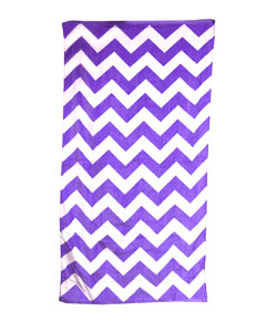 Navy Chevron Carmel Beach Towel