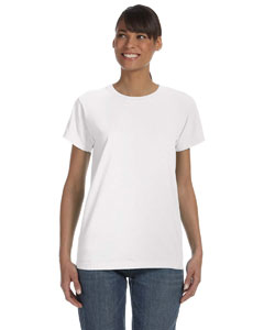 White Women's 5.4 oz. Ringspun Garment-Dyed T-Shirt