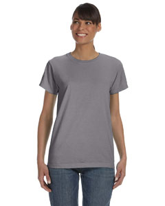 Graphite Women's 5.4 oz. Ringspun Garment-Dyed T-Shirt