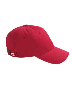 Red Brushed Cotton 6-Panel Cap
