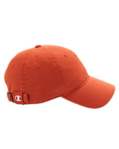 Orange Brushed Cotton 6-Panel Cap