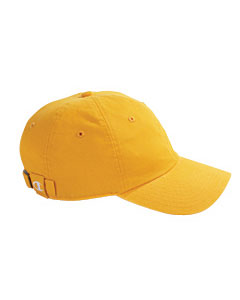 Gold Brushed Cotton 6-Panel Cap
