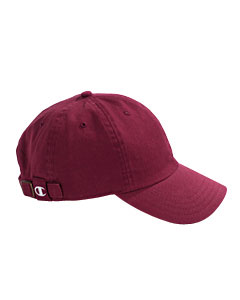 Maroon Brushed Cotton 6-Panel Cap