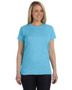 Lagoon Blue Women's 4.8 oz. Ringspun Garment-Dyed T-Shirt