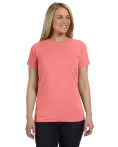 Neon Red Ornge Women's 4.8 oz. Ringspun Garment-Dyed T-Shirt