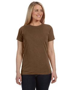 Brown Women's 4.8 oz. Ringspun Garment-Dyed T-Shirt