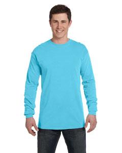 Lagoon Blue Ringspun Garment-Dyed Long-Sleeve T-Shirt