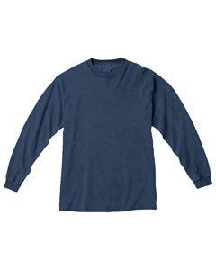 Blue Jean Ringspun Garment-Dyed Long-Sleeve T-Shirt