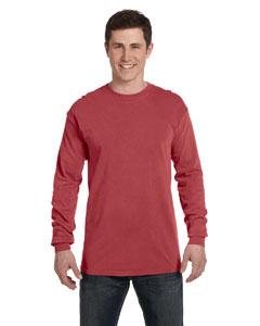 Crimson Ringspun Garment-Dyed Long-Sleeve T-Shirt