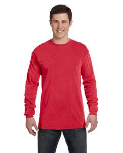Paprika Ringspun Garment-Dyed Long-Sleeve T-Shirt
